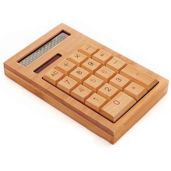전자계산기 대나무 케이스 미니 계산기 문구용품 시장