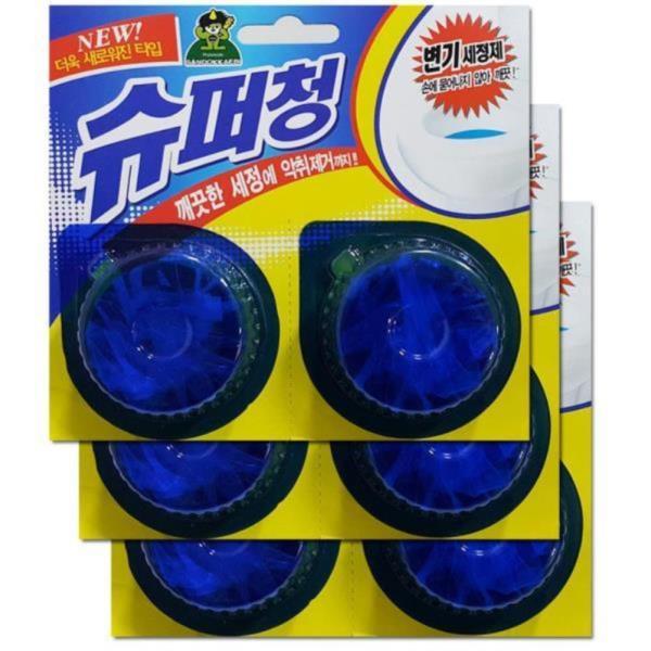 화장실변기 악취제거 변기세정제 6알 좌변기세정제