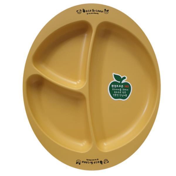 에코인콘 옥수수 간식 접시 원형 식판 가정용 용기 컵