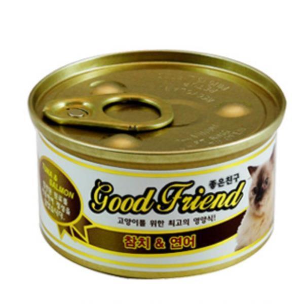 캣 소프트 습식 참치 연어 캔 85g 고양이캔영양간식