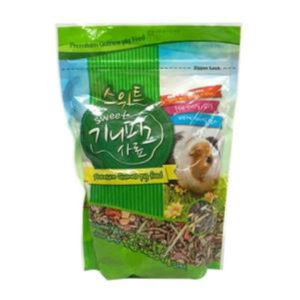소동물 스위트 배설물 냄새감소 저항력 소화흡수율 도움 기니피그 650g 사료 먹이