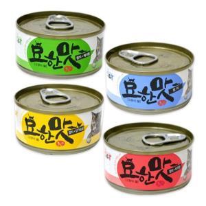 고양이간식 (24개)오션 묘한맛 고양이캔 80g