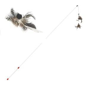 고양이 장난감 놀이 훈련 캣파우 더블깃털롱 낚시대