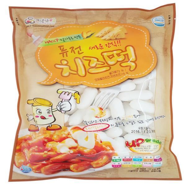떡안애 퓨전 치즈떡 떡뽁이떡 1kg 4봉지