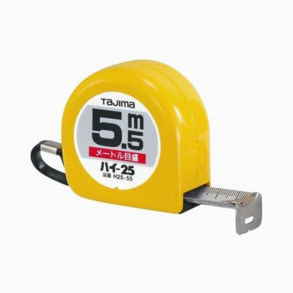 타지마 줄자 수동형 H25 5.5M 25mm