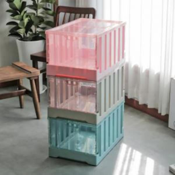 대형 리빙박스 오버랩 폴딩 박스(특대) 3color