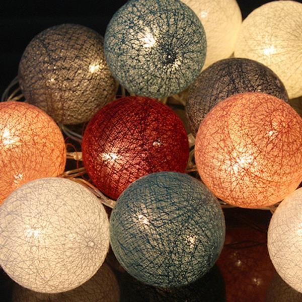 LED 코튼볼라이트 (딥파스텔) 3개
