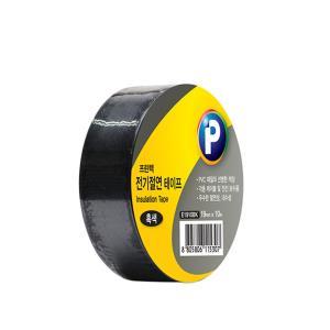 프린텍 E1910BK 전기절연 테이프 흑색 19mmx10m 3개