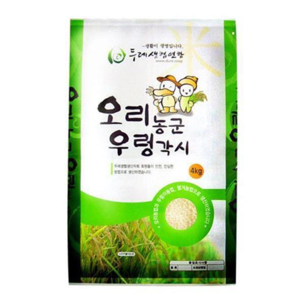 두레생협 백미(4kg/유기/충청)