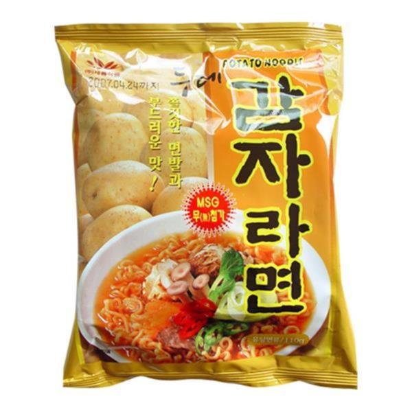두레생협 감자라면(버섯맛)4개