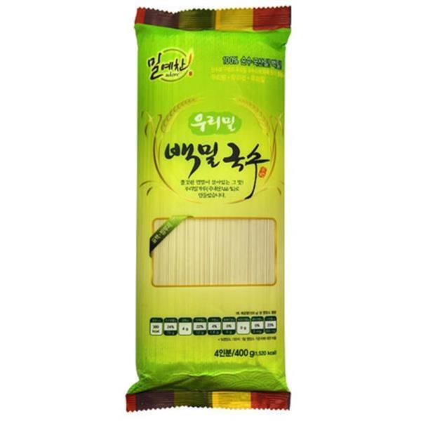 두레생협 우리밀백밀국수(400g)2개