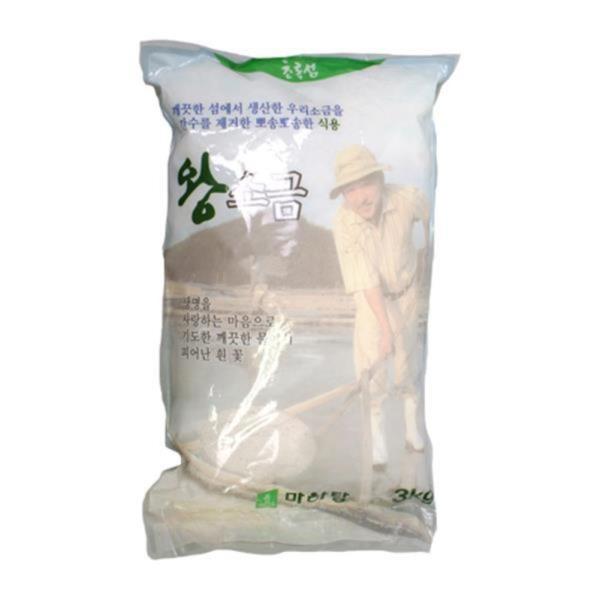 식품 두레생협 왕소금 천일염x3kg,국산