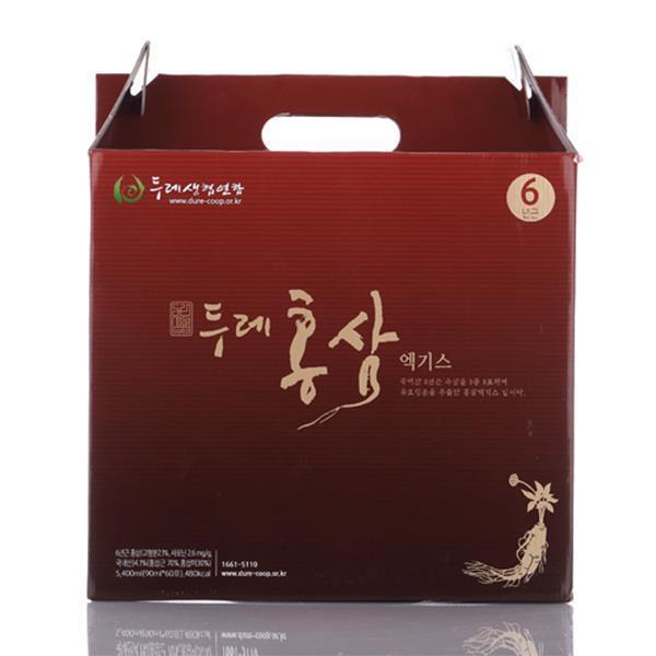 두레생협선물세트 6년근홍삼엑기스(90mlx60팩)