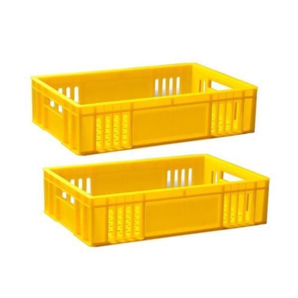 공병 상자 다용도 빈병 노란 플라스틱 바구니 5개