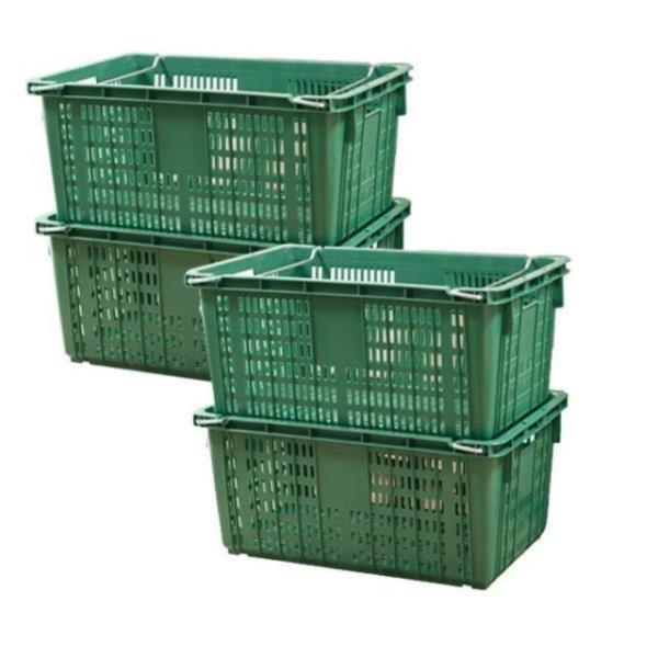 대형 플라스틱 바구니 농산물 식품 사각 운반상자 5개