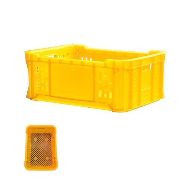 다용도 식품 운반 상자 사각 플라스틱 바구니 2개