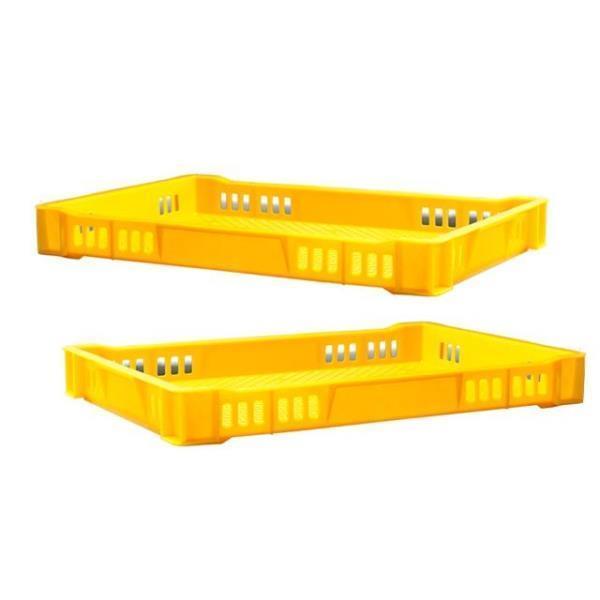 어묵 상자 노란 플라스틱 운반 박스 사각 바구니 5개