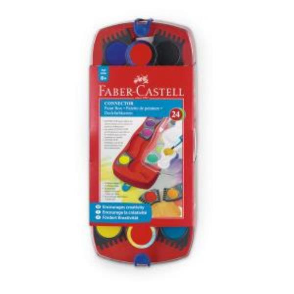 파버카스텔 커넥터 고체 수채물감 24색