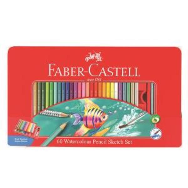 파버카스텔 수채색연필 틴 60색 스케치세트