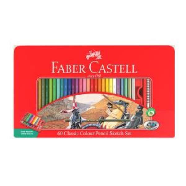 파버카스텔 일반 색연필 틴 60색 스케치세트