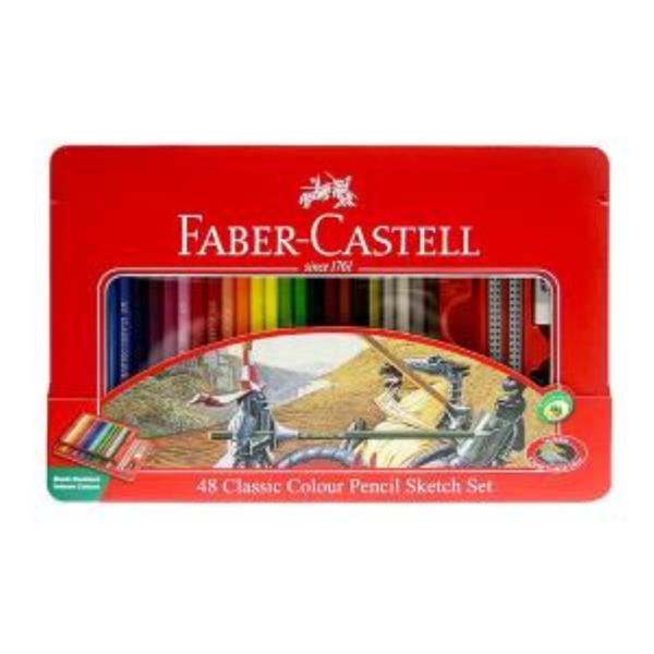 파버카스텔 일반 색연필 틴 48색 스케치세트