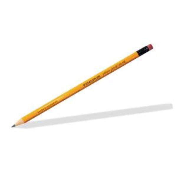 스테들러 옐로우 지우개 연필 134HB 2B 12입
