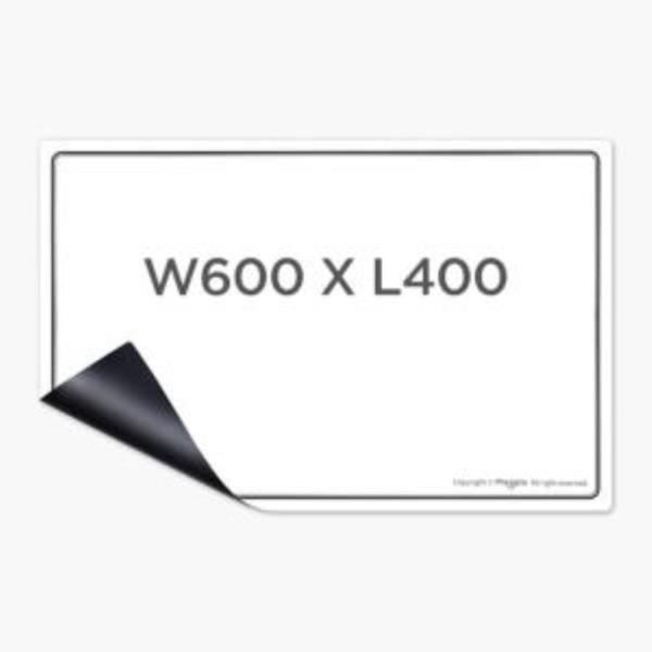 마그피아 유리용 자석 화이트보드 W600  L400