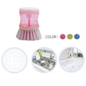 (3개) 누르면 세제 나오게하는 다용도 욕실용 청소솔