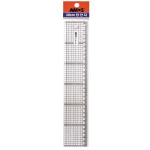(2개) 아모스 광폭방안자 AM-708 길이 30cm 두께 4mm