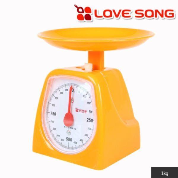 러브송 주부저울 1kg(오렌지색)