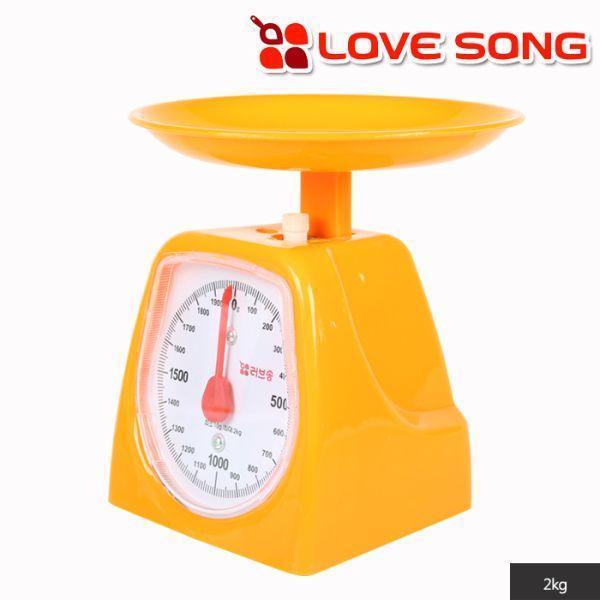 러브송 주부저울 2kg(오렌지색)
