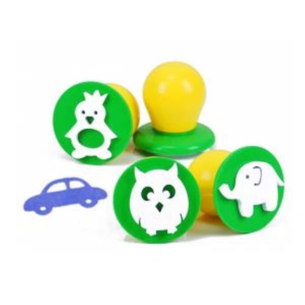 에그스탬프 동물원 4종세트 스템프 도장 아동용