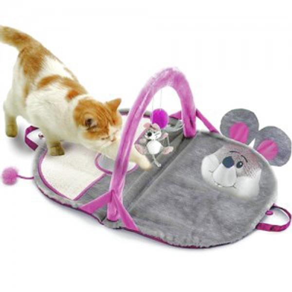 고양이 다기능 놀이 방울 스크래쳐 쥐 놀이터 하우스 캣 매트 보관편리