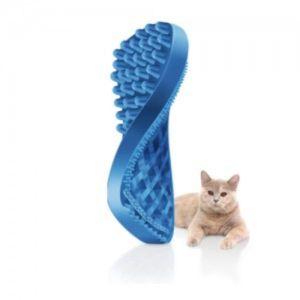 펫플러스미 실리콘 브러쉬-단모 고양이용 (블루)
