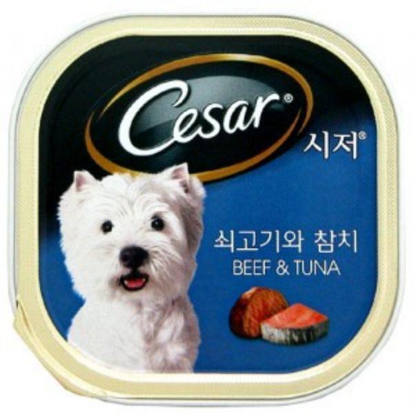 시저캔 (쇠고기와참치) 24개(1박스)