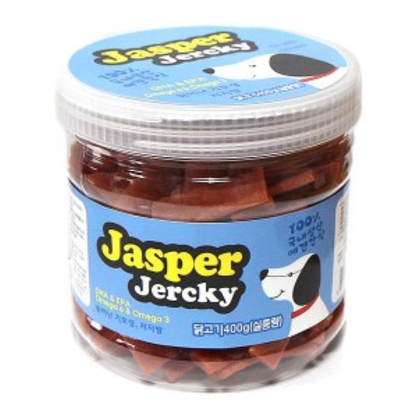 JASPER 프리미엄 펫푸드 닭고기져키 400g