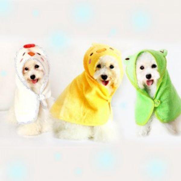 펫스타일 목욕가운 - 라지 - 색상 임의배송