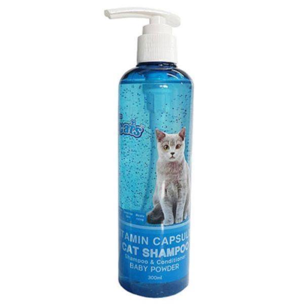 더캣츠 고양이 비타민캡슐샴푸 300ml-베이비파우더향