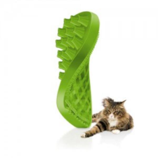 [pet+me] 펫플러스미 실리콘 브러쉬 - 긴털 고양이용 (그린)