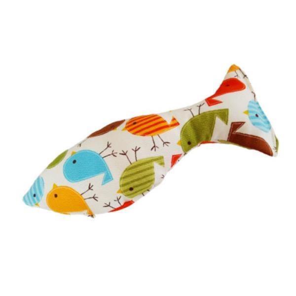 물고기모양 허브 스트레스에 도움을 주는 놀잇감 고양이 캣닢 쿠션 장난감