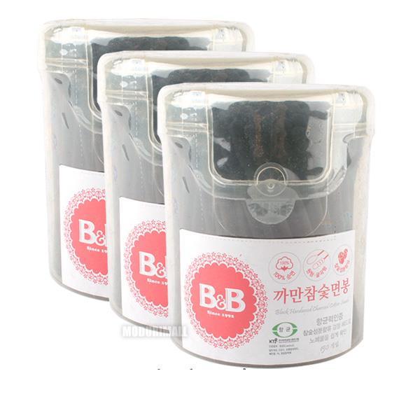 BnB 까만참숯면봉 3통
