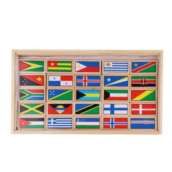 원목세계국기 100개국 도미노블럭