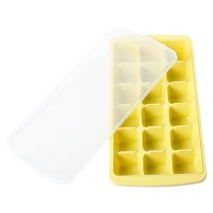 뚜껑 있는 18구 얼음틀 제빙기(노란색)