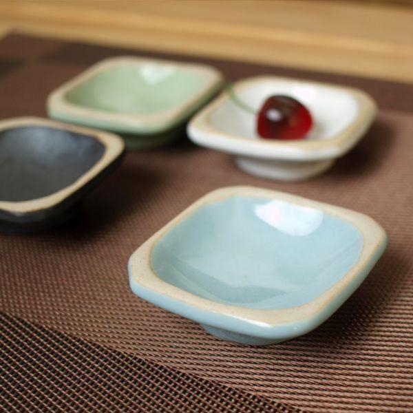 소야 여주도자기 아름 블루 사각종지 그릇(간장)1P