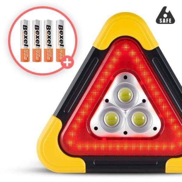 세이프X 엑스 차량용 LED 안전삼각대 대형 비상경고등