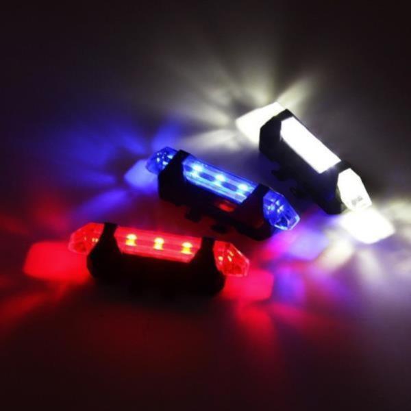 1Plus1 폴리스 순찰 컬러 LED 자전거 후미등 USB 충전☆