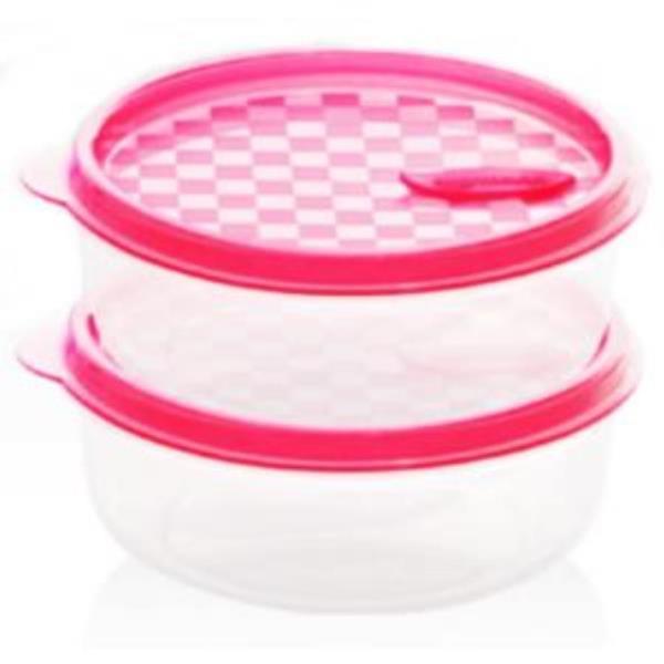 냉동용기원형-핑크(실리만)