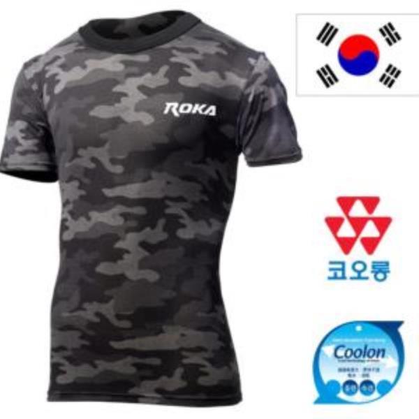 신형 ROKA 블랙 멀티캠 로카 반팔티셔츠