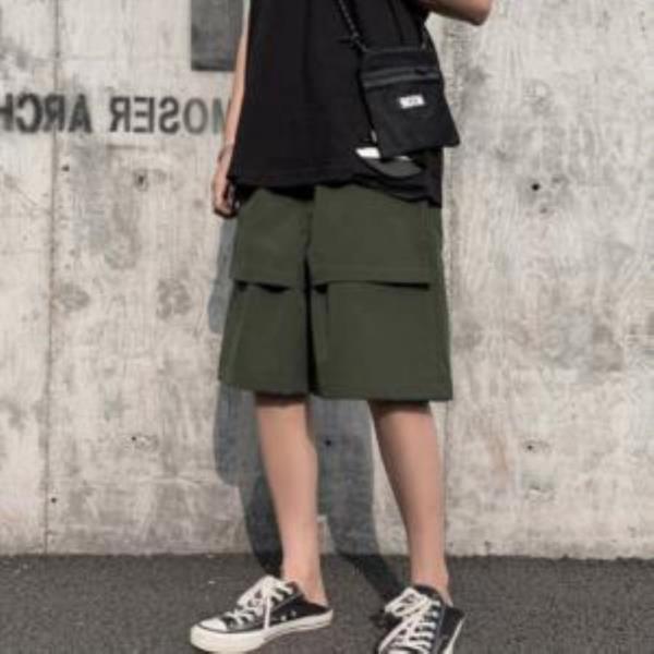 여름 캐주얼 포켓 무지 커버 반바지 LD-597