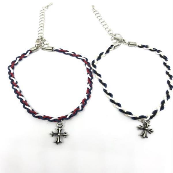 십자가 디자인 남녀공용 패션발찌 2컬러